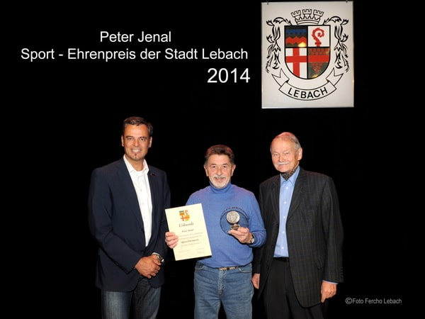 Sportehrenpreis für Peter Jenal